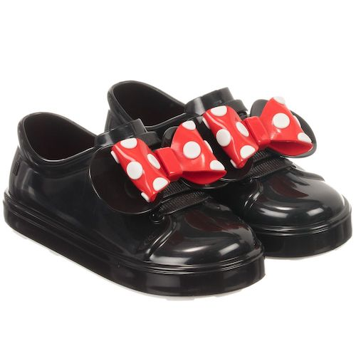 MINI MELISSA BE+MINNIE BB SHOE IN BLACK