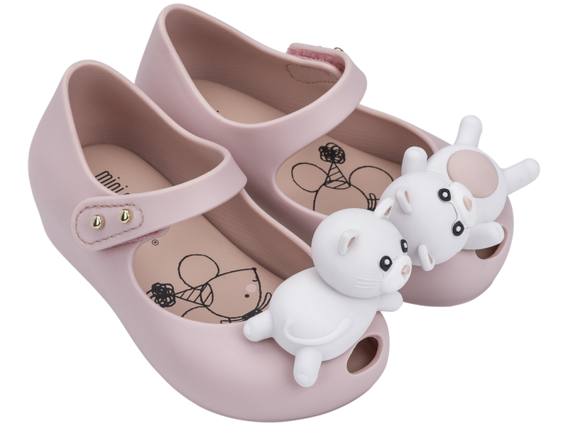MINI MELISSA ULTRAGIRL MINI CAT BB SHOE in LIGHT PINK