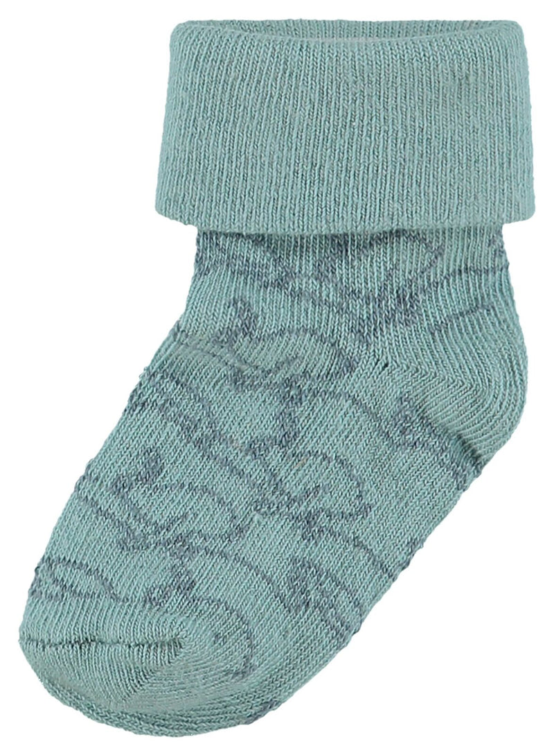 Noppies Unisex Sock 2Pck Thornton in Grey Mint