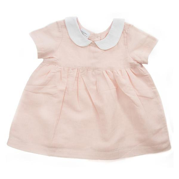 Beba Bean Linen Party Dress in Pink