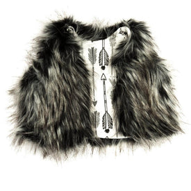 Portage and Main THE GREY FUR VEST