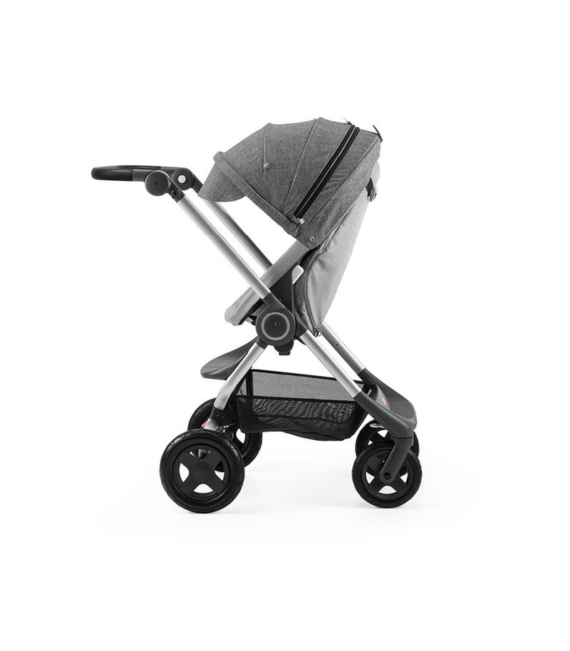 Stokke Scoot V3 Black Melange Stroller with Black Melange Canopy