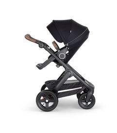 Stokke Trailz Black Chassies with Brown Handle