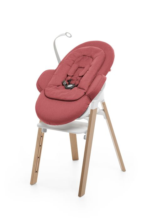 Stokke Steps Bouncer In Red Lusso Kids Inc