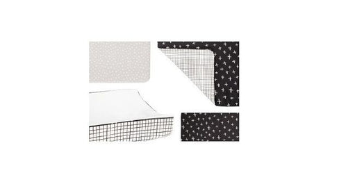 Tuxedo 5-Piece Nursery Bedding Set Sheet, Skirt, Play Blanket, Pad Cover & Wall Decals