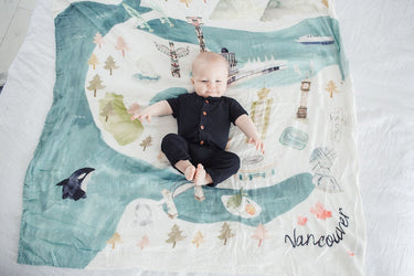 Loulou Lollipop LUXE MUSLIN QUILT BLANKET - VANCOUVER