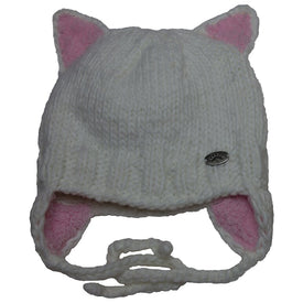 CaliKids Knit Hats in White