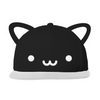 Whistle and Flute Kawaii Cat Flat Brim Cap With Ears