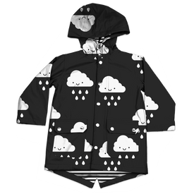 Whistle and Flute Kawaii Cloud Raincoat
