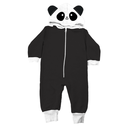 Whistle and Flute Kawaii Panda Hooded Romper