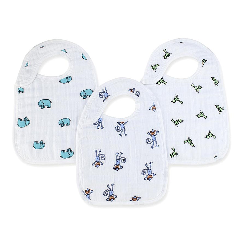 Aden + Anais Nibble Snap Bibs 3-pack in Jungle Jam
