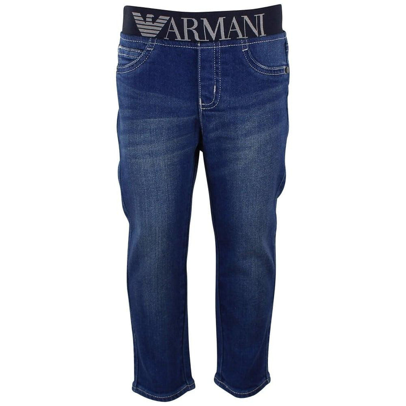 Armani Baby 5 Pocket Jeans with Elastic Waist