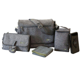 Bbluv Ultra Diaper Bag in Heather Grey