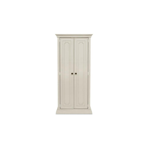 Franklin & Ben Nelson Armoire in Distressed White with Distressing marks
