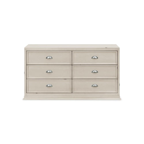 Franklin & Ben Mason Double Wide Dresser in Distressed White