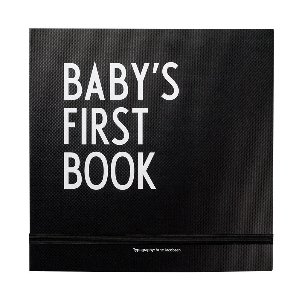 Design Letters Baby's First Book In Black