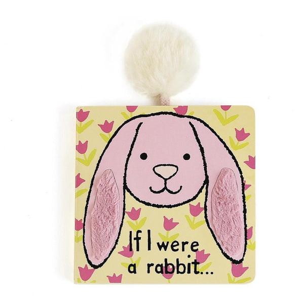 Jellycat If I Were a Rabbit Book in Tulip Pink