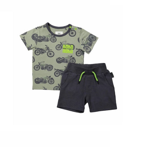 e333095a233 Koko Noko Boys 2-piece set with jogging shorts and T-shirt green in 62 (3/6)