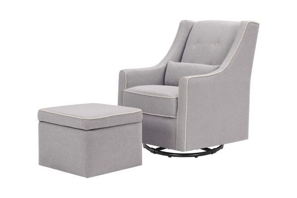 Da Vinci Owen Glider and Storage Ottoman
