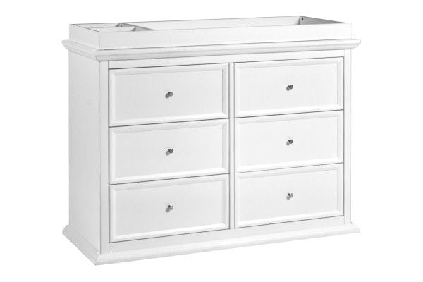 Million Dollar Baby Foothill-Louis 6-Drawer Dresser in White (Tray sold seperately)