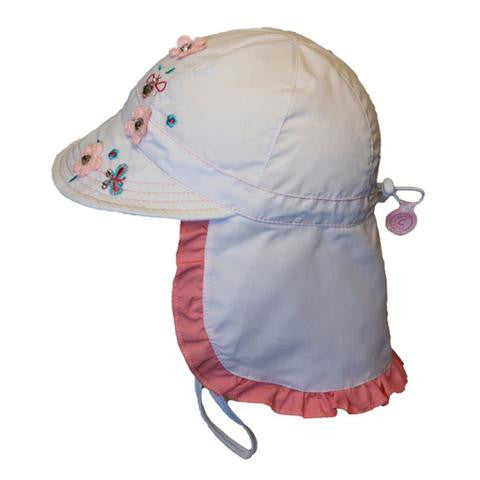 Calikids Girls UV Quick Dry Hat in White