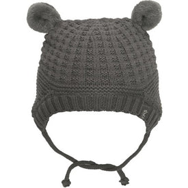 CaliKids Knitted Bear Ears Hat in Grey