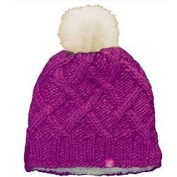 CaliKids Raspberry Knit Toque with Pom
