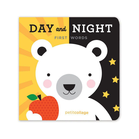 Petit collage Day & Night First Words Board Book