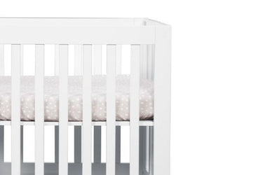 BabyLetto Tuxedo Grey Dots Mini Crib Sheet