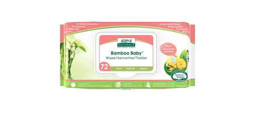 Aleva Naturals Bamboo Baby Wipes - Ultra Sensitive 72 Pack