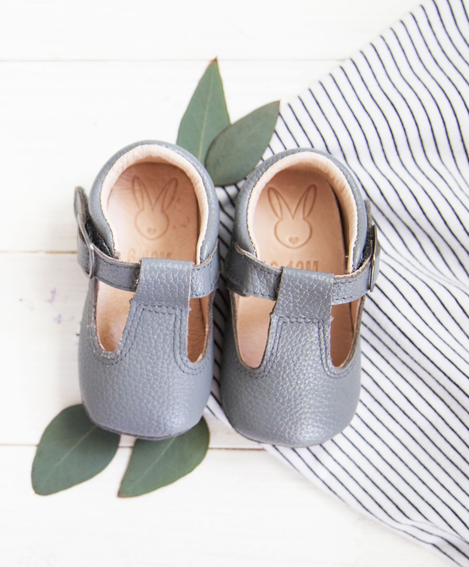 Aston Baby Shaughnessy Shoe in Grey