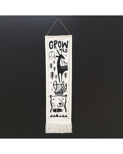 Wee Gallery Organic Canvas Growth Chart Lusso Kids Inc