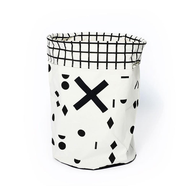 Gautier Studio Ole Toy Hamper Black and White