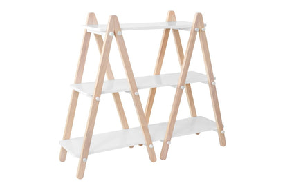 Babyletto Dottie Bookshelf in White With Washed Natural