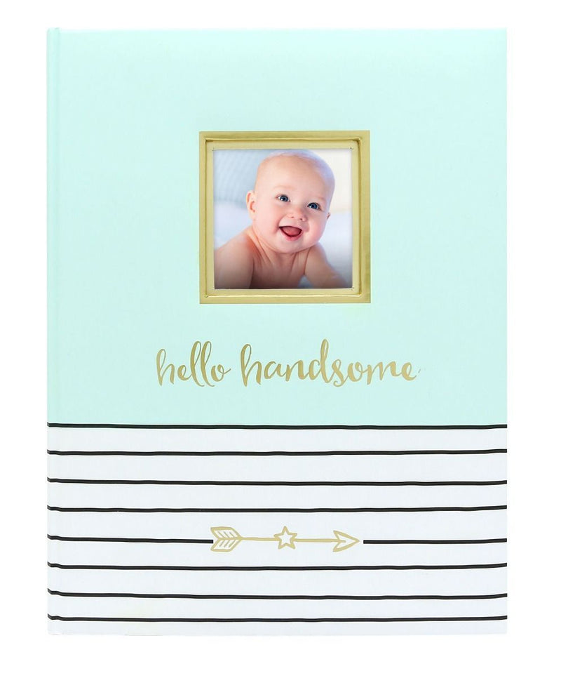 Pearhead Hello Handsome Baby Book in Mint