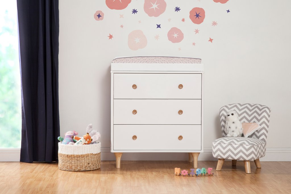Babyletto Lolly 3-Drawer Changer Dresser with Removable Changing Tray No pad included