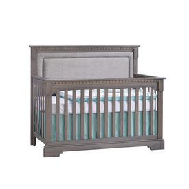 Natart Ithaca ''5-in-1'' Convertible Crib with Upholstered Panel and without Rails