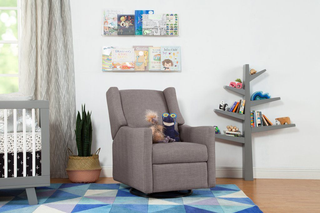Million Dollar Baby electronic recliner and swivel glider with usb port in Grey Tweed