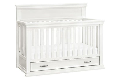 Million Dollar Baby Classic Langford 4-in-1 Convertible Crib with Storage Drawer in Warm White