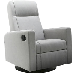 Dutailier Lula Glide, recline, integrated footrest, swivel with Matt Black Finish