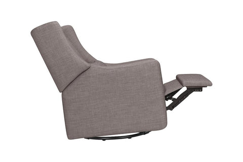 Babyletto Kiwi Electronic Recliner and Swivel Glider in Grey Tweed