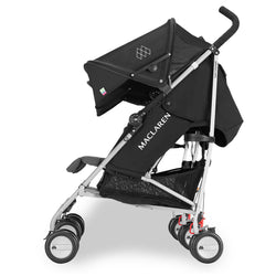 Maclaren Twin Triumph Stroller in Black/Charcoal