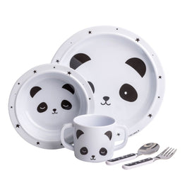 A Little Lovely Company Dinner Set: Panda