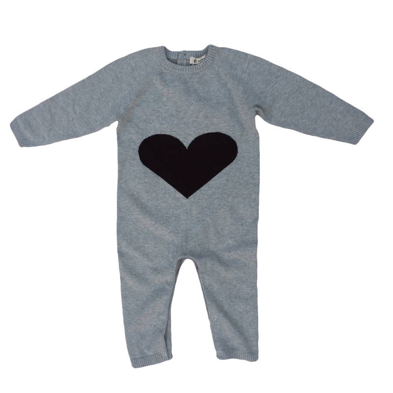 Earth Baby Outfitters Romper in Heart Knit Romper