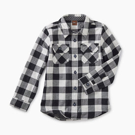 Tea Collection Double Weave Shirt in Checkered Plaid