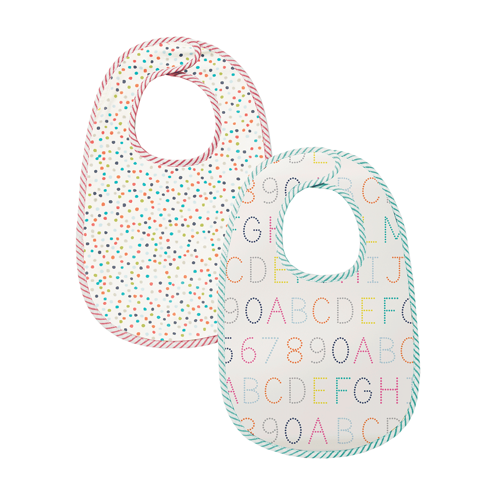 Pehr Bib in Multi Dots and Alphabet (Set of 2)