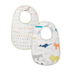 Pehr Bib in Noah's Ark and Painted Dots (Set of 2)