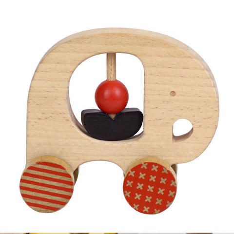 Petit Collage Wood Push Alongs