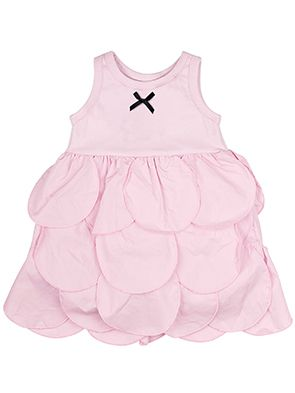 The Tiny Universe Circles Dress In Soft Pink Lusso Kids Inc