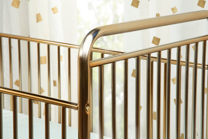 BabyLetto 3-in-1 Convertible Metal Crib in Gold